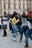 Международный день флешмоб Руэда де казино — Стоковое фото