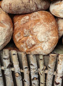 The  loaf of rustic bread traditionally roasted. — Stock Photo