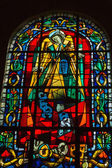 Paris - Stained glass in the Church of St. Peter in Montmartre — Stok fotoğraf