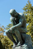 The Thinker in Rodin Museum in Paris — Stock Photo