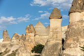 Rock formations in Goreme National Park. Cappadocia,  Turkey — Stock Photo