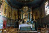 クラクフの近く Podstolice の木製アンティーク教会の内部。ポーランド — ストック写真