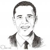 Barack Obama president of United States — Stock Vector