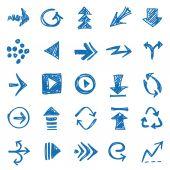 手描きの矢印 — ストックベクタ