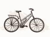 Bicycle Hand drawn illustration — Vector de stock