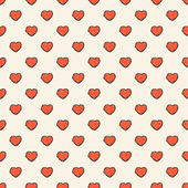 Repeating hand drawn hearts background — Vector de stock