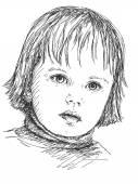 детская девочка — Cтоковый вектор