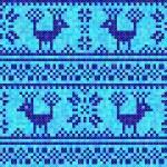 Cross stitch deer ornament — Stock Vector #58287449