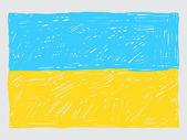 Ukraine flag sketch — Stock Vector