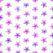 Purple flowers seamless background — Stock Vector #61628709