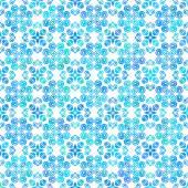 Hand drawn delicate seamless Blue ornament — Stock Vector