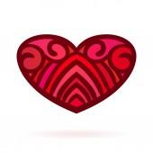 Ornamental heart, Isolated — Stock Vector