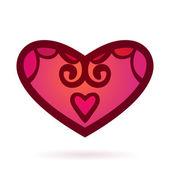 Ornamental heart, Isolated — Stockvektor