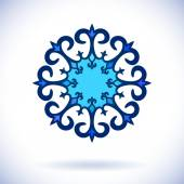 Orta Asya süsleme — Stok Vektör