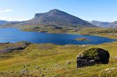 İsveçli dağlarda Jierttajavri Gölü — Stok fotoğraf