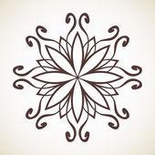 Round floral oriental pattern — Stock Vector