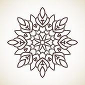 Round flower pattern — Stock Vector