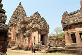 Tourists in Phanom Rung Historical Park — Stock Photo