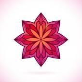 Flower ornament design element, — Stock Vector