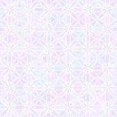 幾何学的な花のシームレスなパターン — ストックベクタ