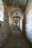 Corridor in the Old Fortress in the Ancient City of Kamyanets-Podilsky — Stock Photo