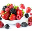 Big Pile of Fresh Berries on White Background — Stock Photo #57146137
