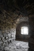 Loophole in the Old Fortress in the Ancient City of Kamyanets-Podilsky — Stock Photo