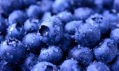 Background of Fresh Ripe Sweet Blueberries Covered with Water Drops — Stock Photo