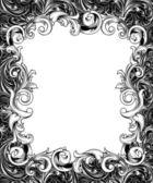 Ornate Engraved Baroque Frame — Stockfoto