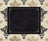 Chic Frame Copy Space on Taupe Damask — Stock Photo