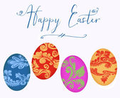 Happy Easter With Colorful Eggs — Stock Photo