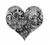 Heart Ink Doodle — Stockfoto