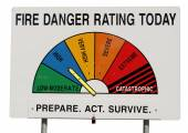 Fire Danger Rating Display Board - High — Stock Photo