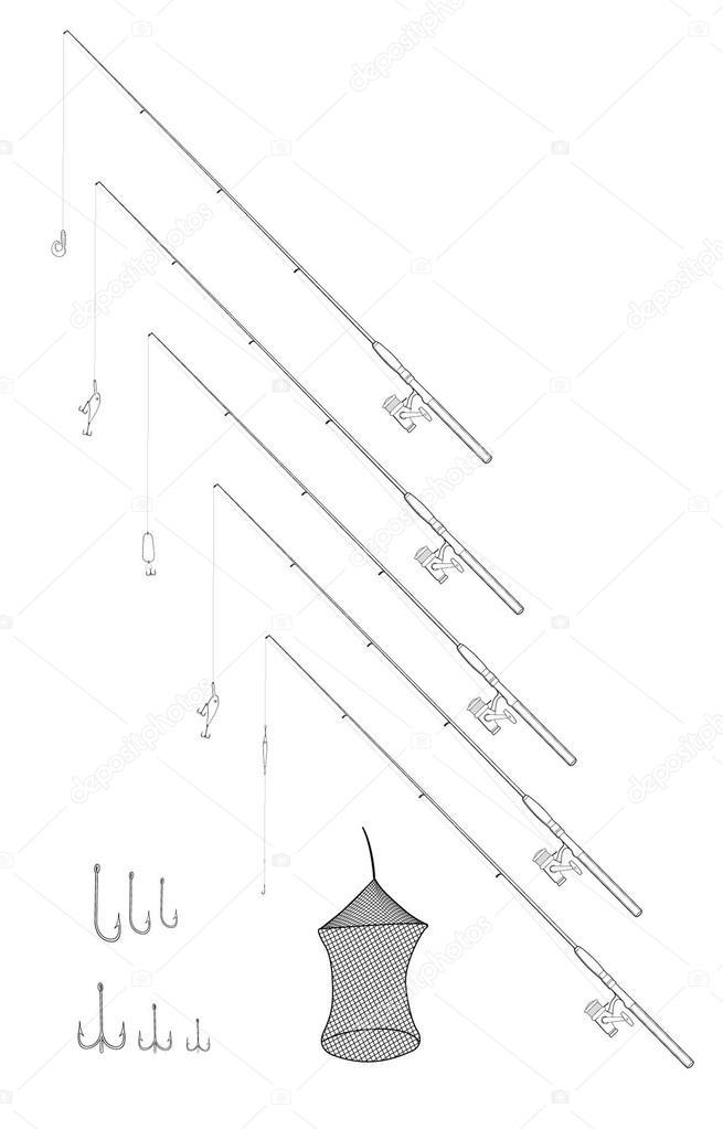 Иллюстрация схемы рыболовной