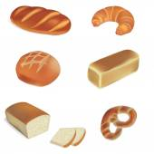 Bakery and bread vector illustrations — Stock Vector