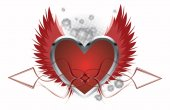 Love Background With Heart - vector illustration — Stockvector