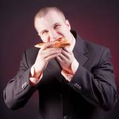 Hungry businessman — Stock Photo