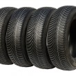 Winter tires for car — Stock Photo #55200089