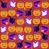 Sans soudure fond d'halloween — Vecteur