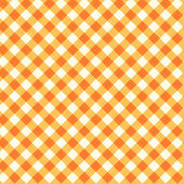 Thanksgiving or autumn gingham fabric, seamless pattern included — Stockvektor