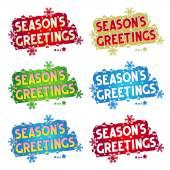 Holiday greetings - Season's Greetings! - 6 variants — Stock Vector