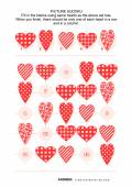 Picture sudoku puzzle with hearts — Stock Vector