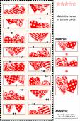 Valentine's Day visual puzzle - match the halves - hearts — Vetorial Stock