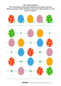 Picture sudoku puzzle with Easter eggs — Stock Vector