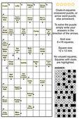 Arrowword (线索在正方形) 纵横字谜 — 图库矢量图片