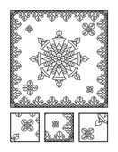 Coloring page and visual puzzle for adults — Stock Vector