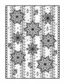 Yetişkin veya tek renkli dekoratif arka plan için boyama sayfası — Stok Vektör