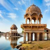 Gadi Sagar (Gadisar), Jaisalmer, Rajasthan, India, Asia — Stock Photo