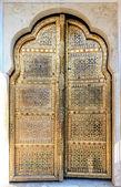 Golden Doors of Hawa Mahal in Jaipur, Rajasthan, India — Stock Photo