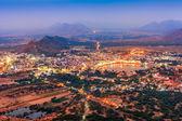 Ville sainte de Pushkar en prévision de la nuit, Rajasthan, Inde — Photo